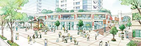 T駅街区市街地再開発事業